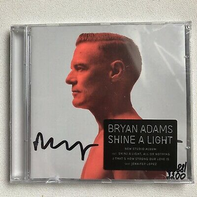 Bryan Adams - Shine A Light Hand Signed And Numbered Cd Autographed New Sealed