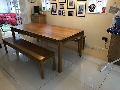 Habitat Massello Solid Oak Dining Table - 8 to 10 Seater