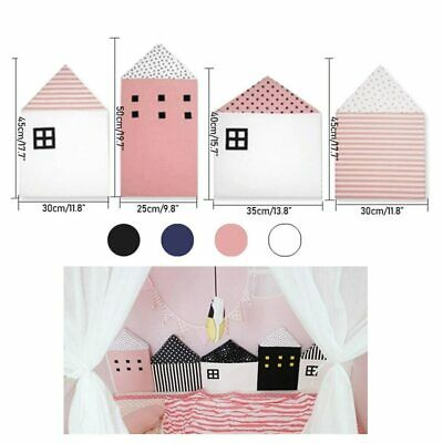 4pcs Baby Bed Bumper Little House Pattern Crib Protection Infant Cot Newborn