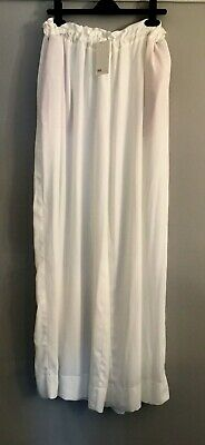 White Wide Leg Paper Bag Waist Trousers Size 8 BNWT From Asos