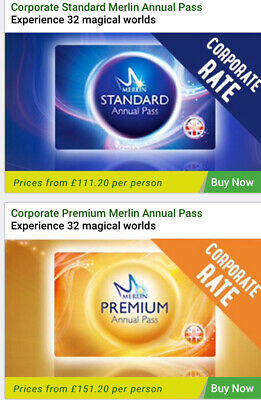 Merlin Annual Pass 20% Discount Standard From £111.20 or Premium from £151.20