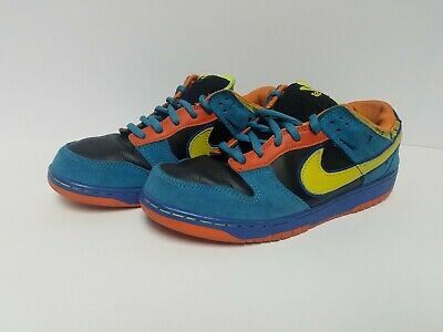 """new product 4bcad 99980 2008 Nike Dunk Low Pro SB """"Skate Or Die"""" Black Neon Yellow Size"""