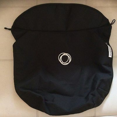 Bugaboo Frog Stroller Bassinet Apron Black canvas Fabric carrycot cover baby new