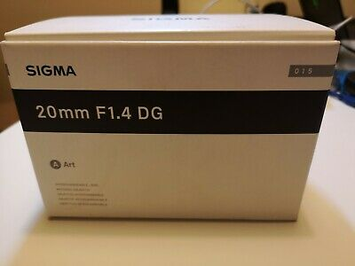 Sigma Art 20mm 1.4 DG for Canon Mint Condition