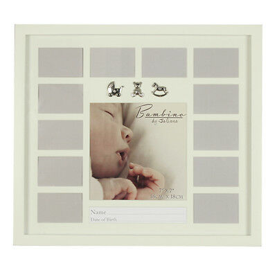 Bambino Baby Collage Wall Frame with Silver Plated Icons (CG386)