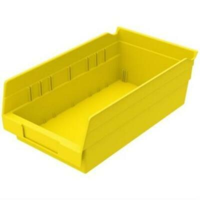 "Acko-Mils Shelf Bin Yellow Storage Bin 11-5/8"" X 6-5/8"" X 4"" Case Of 12"