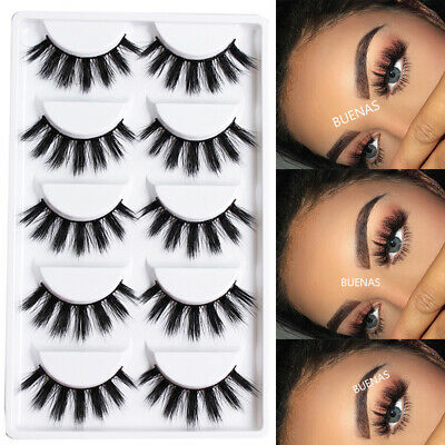 Multilayer Natural Long Wispy 3D Mink Hair False Eyelashes Eye Lashes Extension