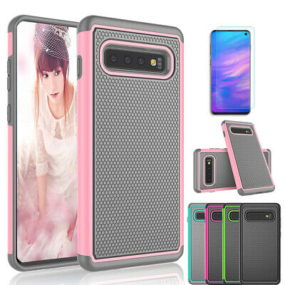 For Samsung Galaxy S10/S10 +/S10 e Shockproof Protective Case + Screen Protector