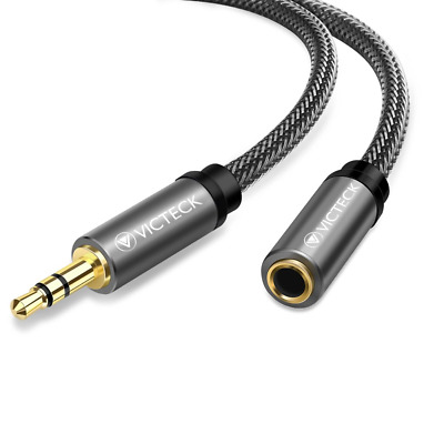 Audio Extension Cable 5M, Victeck Nylon Braided Jack cord 3.5mm Stereo Male to &