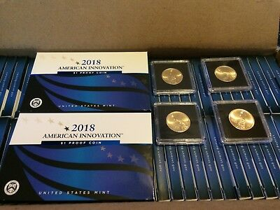 2018 S American Innovation $1 Proof... ( 2 coins ) + 2P & 2D coins in airtites