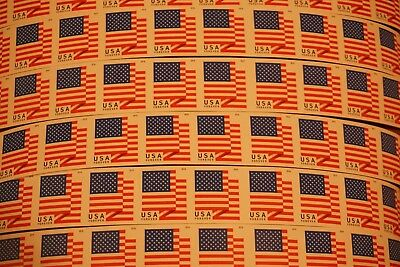 10 USPS USA Forever Stamps Flag Image Self-Stick Postage FREE S&H United States