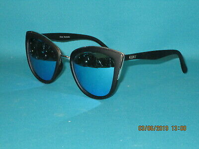 fc306a5e73 QUAY Australia MY GIRL Matte Black Blue Mirror Women s Sunglasses 55mm