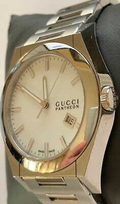 c99e9a4163b GUCCI PANTHEON MENS Stainless Steel Watch 115.2 Swiss Made 44mm ...
