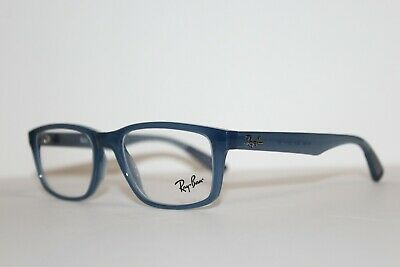 726ce418a9449 Brand New Authentic Ray-Ban Rb 7063 8019 Blue Frames Eyeglasses Rx 52 Mm  Rb7063