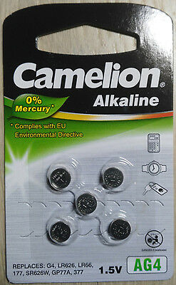5pcs AG4 LR626 377 Button Cell Coin Alkaline Battery 1.5V Watch Toy G4 LR66 177