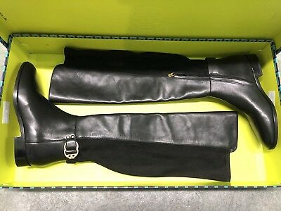 d62386149 New  578 Tory Burch Marsden Over The Knee Otk Black Leather Logo Boot 5.5