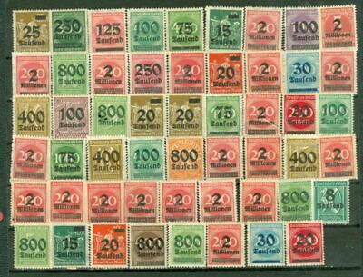Germany Reich Inflation Overprint Group of 50 MNH stamp Lot#4223