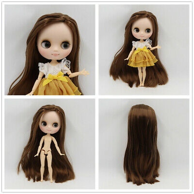 """Hand set 8/""""Neo Middie Blythe Doll Black Hair Nude Doll from Factory 99008+Gift"""