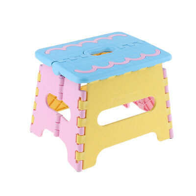 Foot-stool Step Foldable Stool Kitchen Bathroom Fold Easy Storage Easy Carry