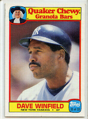 1986 TOPPS QUAKER CHEWY #33 DAVE WINFIELD  New York Yankees