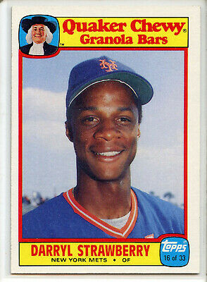 1986 TOPPS QUAKER CHEWY #16 DARRYL STRAWBERRY  New York Mets