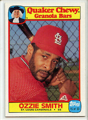 1986 TOPPS QUAKER CHEWY #15 OZZIE SMITH  St Louis Cardinals