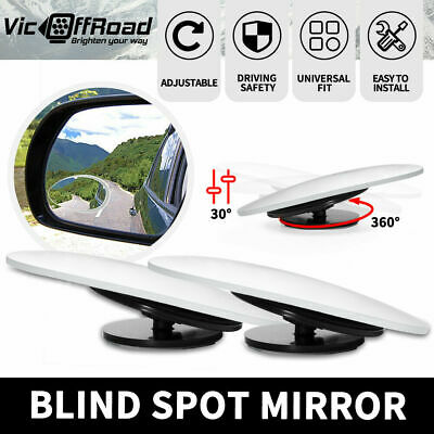 2x Blind Spot Mirrors Water Drop Type  Wide Angle Side Rearview Adjustable