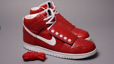 a2393333d8a4 Nike Dunk High Strap Questlove red leather SUPER RARE SB 415924 601 sz14  Supreme