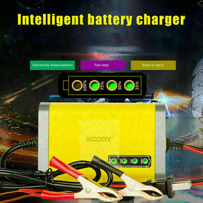 Battery Charger Maintainer Trickle 2A 12V Car Motorcycle Automobile US / EU PLUG