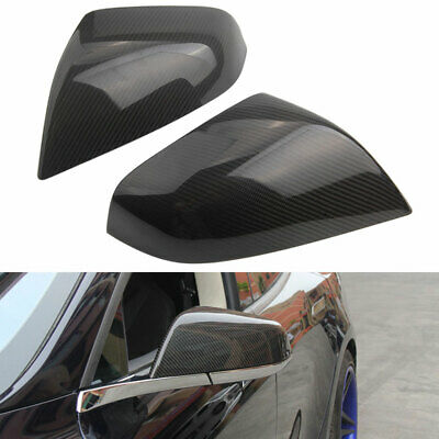New Carbon Fiber Side Mirror Cap Cover Case Trim for Tesla Model S 60D 75D 85D
