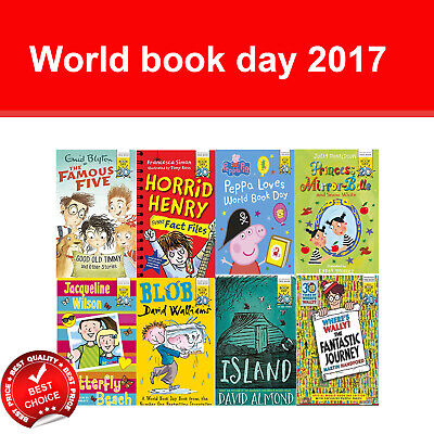 World book day 2017 collection books Where's Wally Blob Peppa Pig Horrid Henry