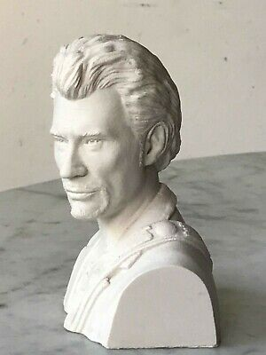 Decoration / Sculpture / Statuette /  Figurine / Buste De Johnny Hallyday