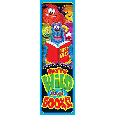 Wild About Books! School Bookmarks. Pack of 36