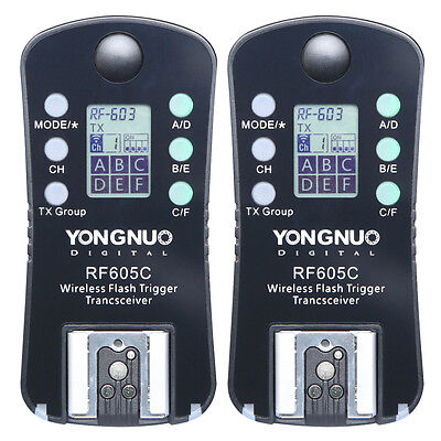 YongNuo RF-605 Wireless Remote Flash Trigger For Canon 700D 650D 550D 70D 5D 7D