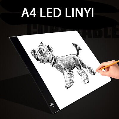 LED A4 A5 Drawing Tracing Board Copy Pad Panel Three-speed Dimming Copy Table