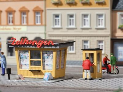 HO SCALE NEWSPAPER Stand x 2 3D Model Railway Building Kit