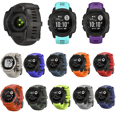 Silicone Watch Band Replacement Bracelet For Garmin Instinct Rugged GPS Watch