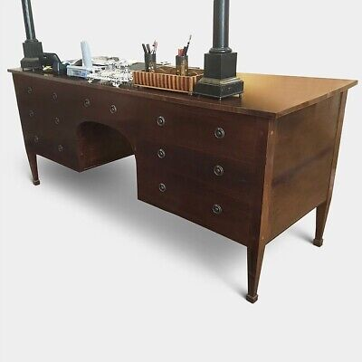 Antique mahogany double sided 'Partners' desk. circa 1790-1810