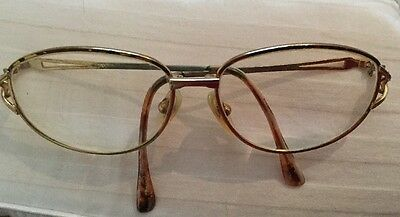 Vintage Reading Glasses Tortoise Shell Eyeglasses Frame Eyewear In Case
