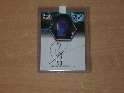 Doctor Who 40th Anniversary Autograph card WA4 Yee Jee Tso Strictly Ink