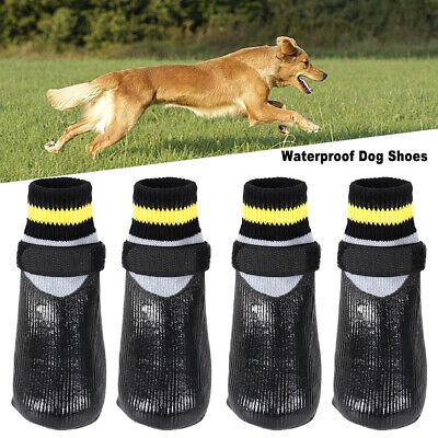 4x Waterproof Pet Dog Puppy Snow Boots Winter Warm Rain Booties Protective Shoes