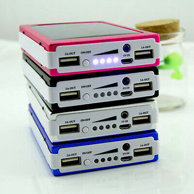Portable 300000mAh 20 LED Solar Power Bank Dual USB Battery Charger For Phone