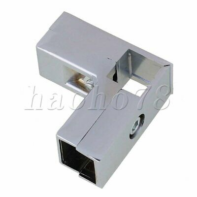 3 way L shape Connector Pipe Fittings 90 Degree for 25x25mm Square Tube Silver