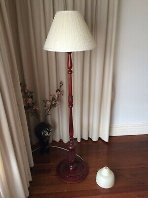 Vintage Old Wooden Floor Lamp Stand Melb
