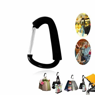 Pram Stroller Door Slip-Resistant Hanging Carrier Holder Shopping Bag Hook Clip