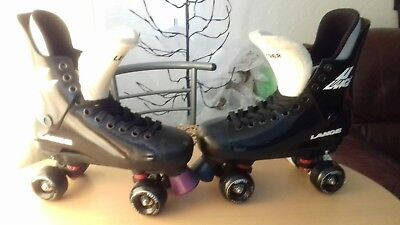 """Lange"" ""Leader"" original 80/90s quad rollerskate conversions in a uk size 8.5."