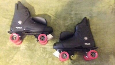 """Roces"" original 80/90s quad rollerskates in a uk size 12."