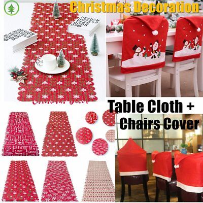 Christmas Table Cover Cloth Letters Printed Dinner Party Home Decoration J1