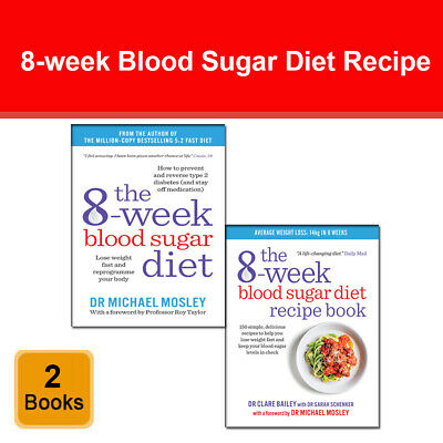 8-Week Blood Sugar Diet Recipe 2 books set pack by Michael Mosley, Clare Bailey