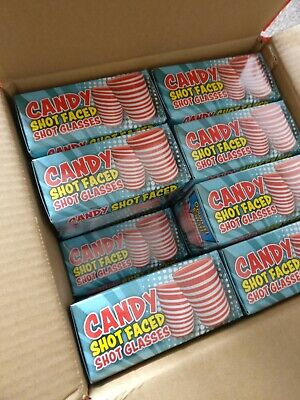 Job Lot of 16 x 2 pack of Candy Shot Glasses. Party Wholesale Clearance Joblot